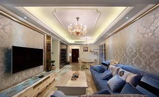 18万打造唯美低奢简欧风格三居室内装修