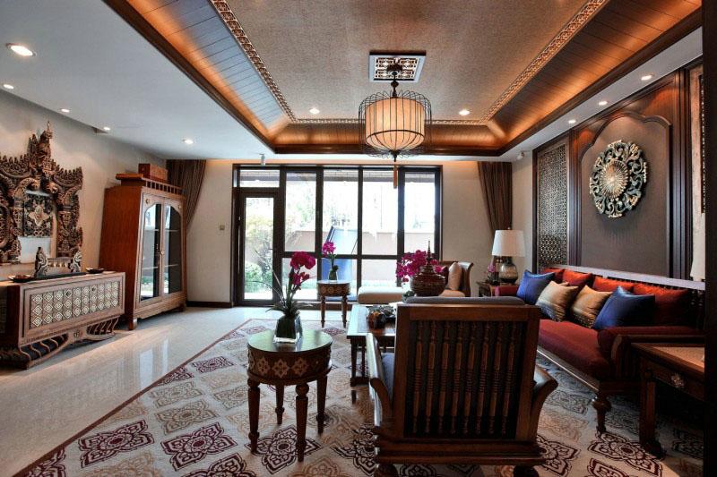 豪华复古东南亚设计别墅装饰效果图