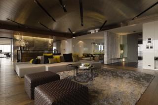 现代空间设计三室两厅素雅装饰效果图