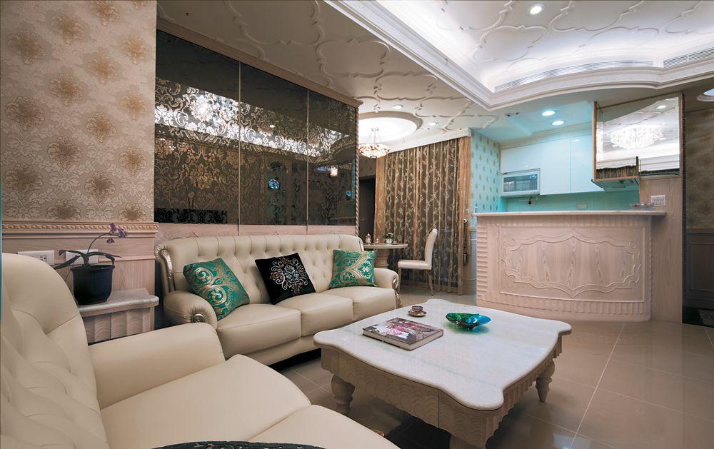 华丽优雅美式新古典风格小户型二居装饰