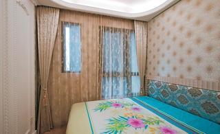 精致优雅美式风格小卧室窗帘效果图