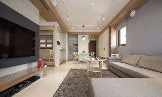 浅咖啡色实木简约装修二居室案例欣赏图