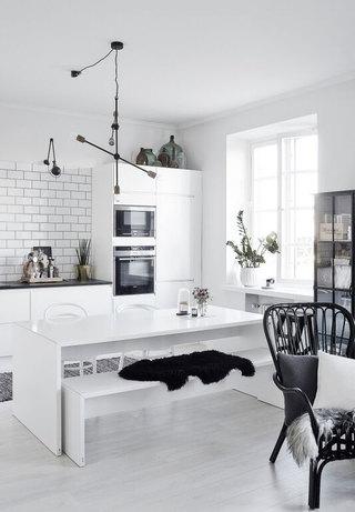 时尚个性黑白北欧风一居室公寓设计效果图
