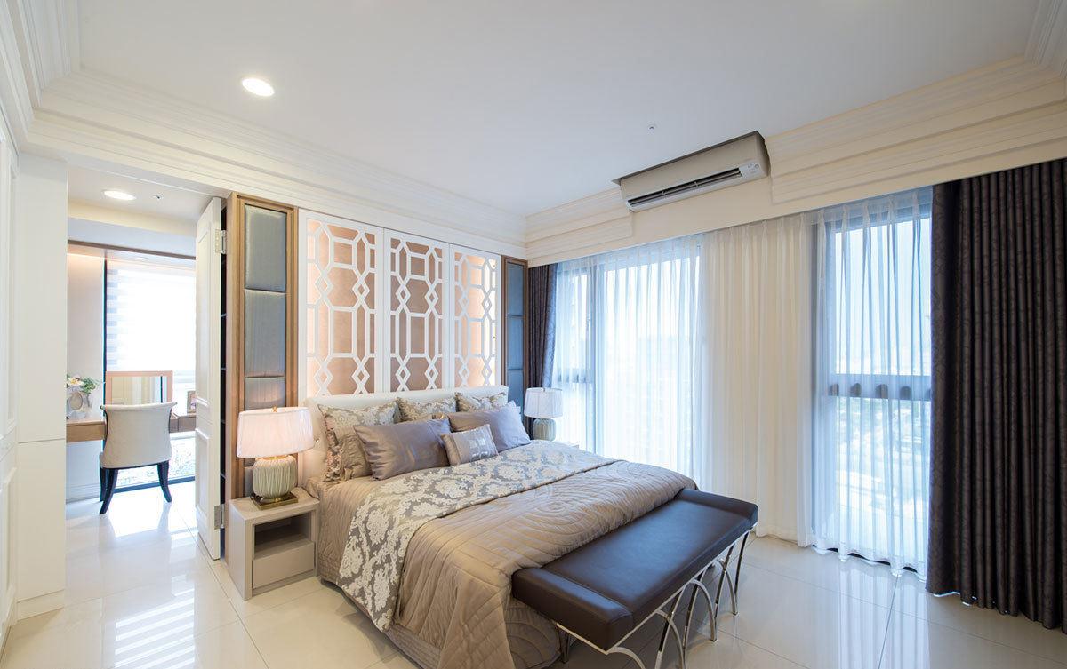 暖色新古典风卧室效果图