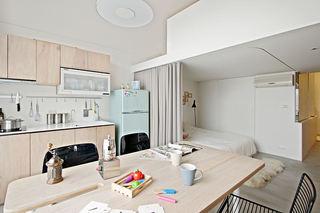 60平米简约设计北欧风格loft公寓装修图例