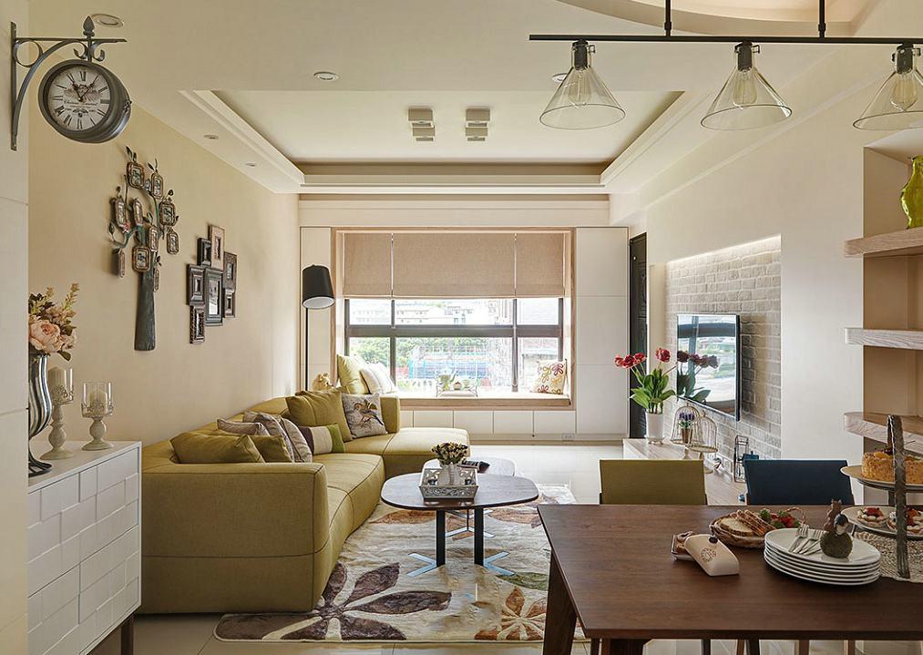 家装客厅田园设计风格沙发装饰效果图
