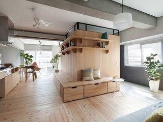 宜家日式室内休闲实木客厅效果图