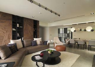 沉稳素雅现代设计风格二居室内装修图