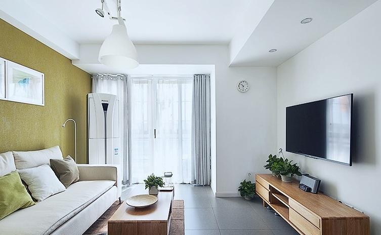 原木北欧风情公寓跃层设计装修图