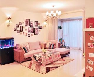 粉色甜美宜家风一居室小公寓装饰效果图