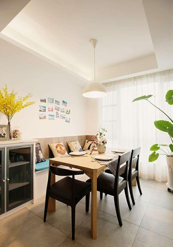 清新田园风格简约厨房装修设计欣赏图