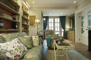 78平浪漫复古韩式田园设计二居装潢设计欣赏