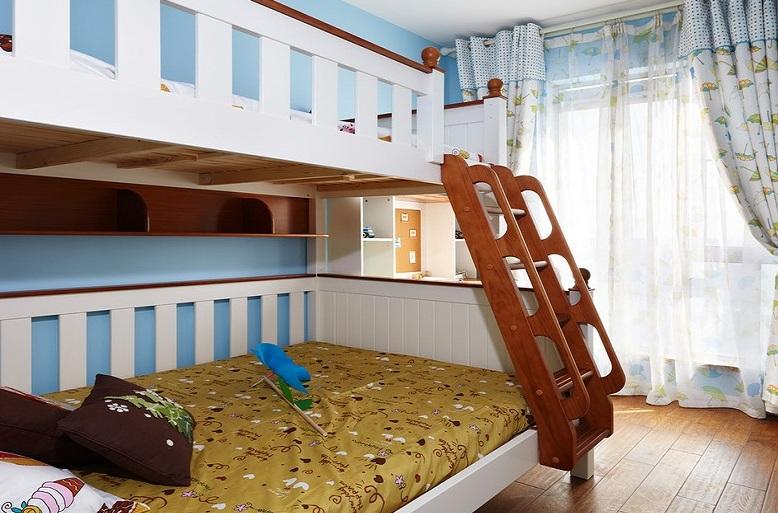 时尚最新现代儿童房双层儿童床布置图