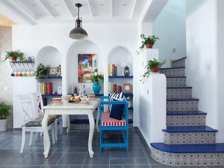 精致复古地中海风格复式楼梯效果图