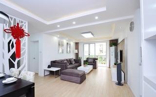 80平二居室 明亮简约现代风装饰图