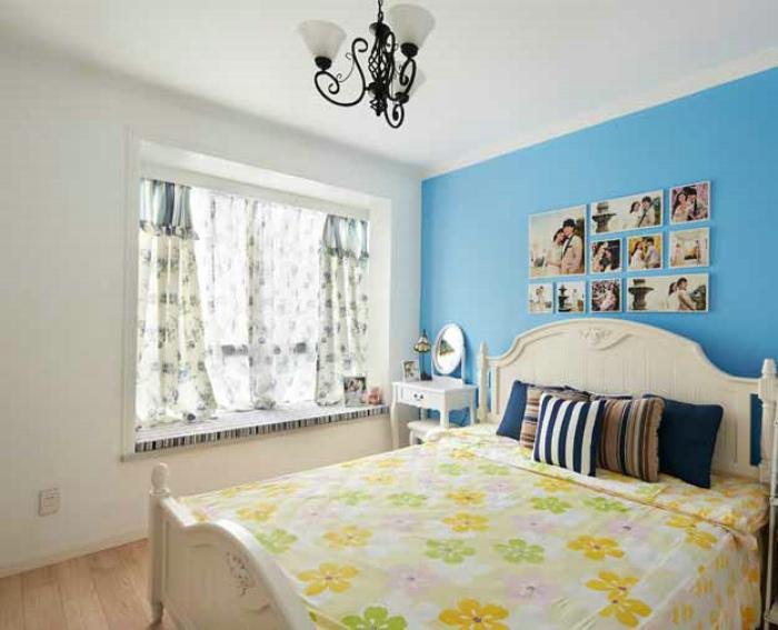 简约清新地中海设计卧室效果图大全