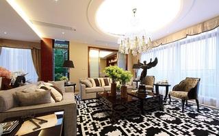 低奢摩登现代简欧风公寓家居设计效果图欣赏