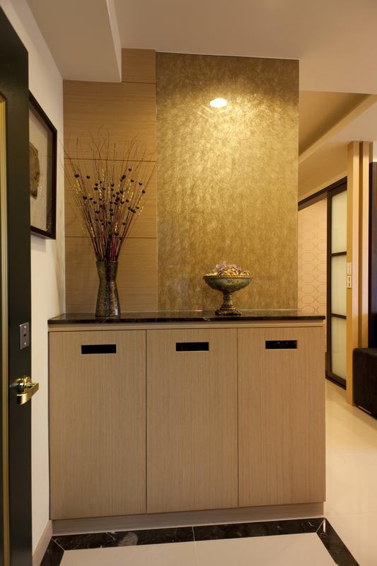 现代日式设计玄关鞋柜装饰图