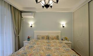 美式田园风格卧室壁灯效果图