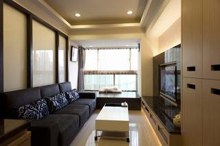 55平米现代日式设计一居室效果图