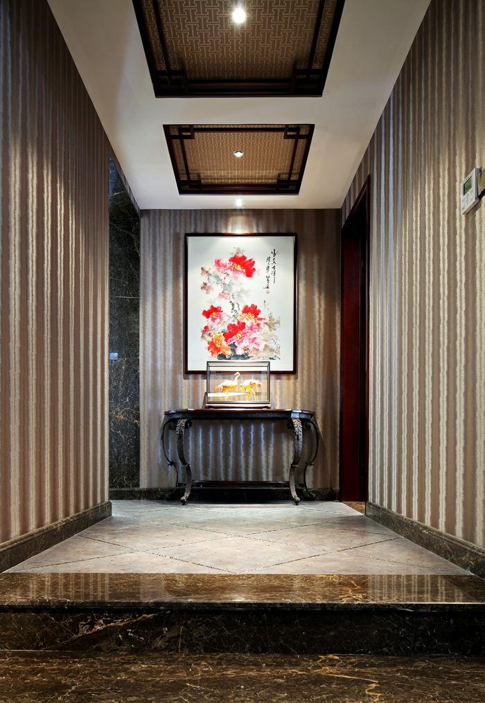 古典中式家居玄关设计装修欣赏图