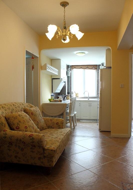 时尚现代小户型一居室家装隔断设计装修图