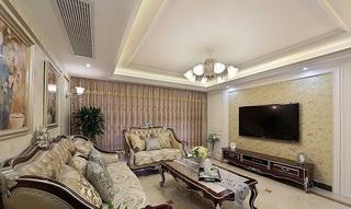 温馨精致欧式三室两厅美宅装潢设计