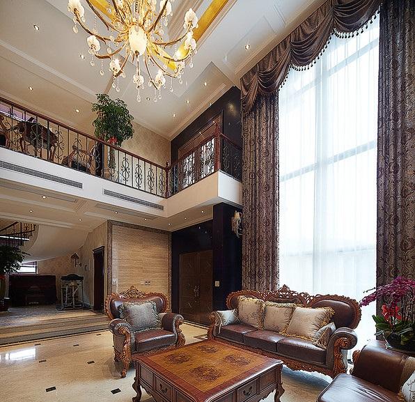 古典奢华欧式装修别墅隔断设计装潢效果图