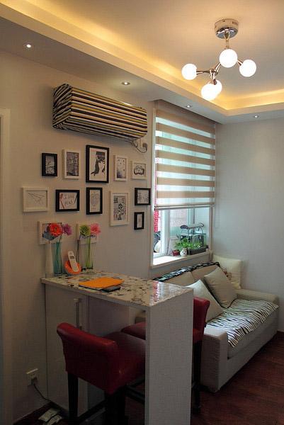 温馨宜家风格客厅小吧台装饰效果图
