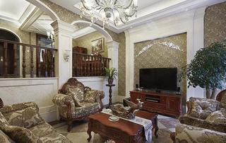 欧式古典奢华风别墅室内隔断设计装修效果图