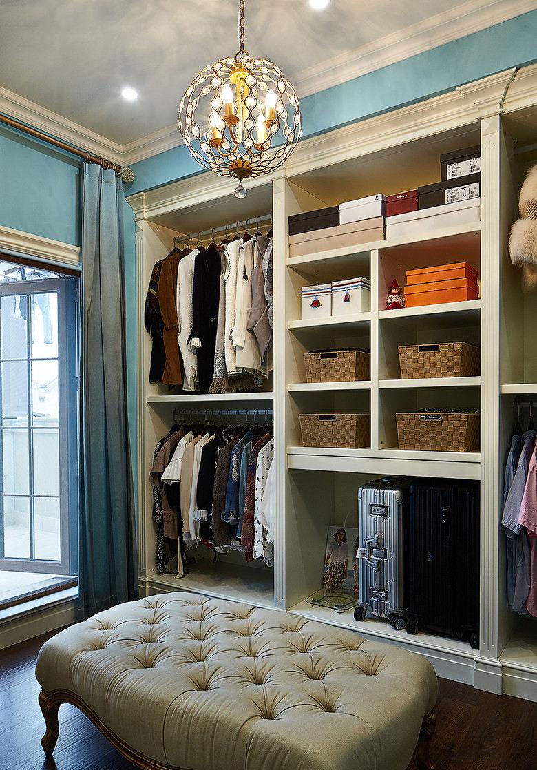 时尚大气现代美式衣帽间衣柜效果图