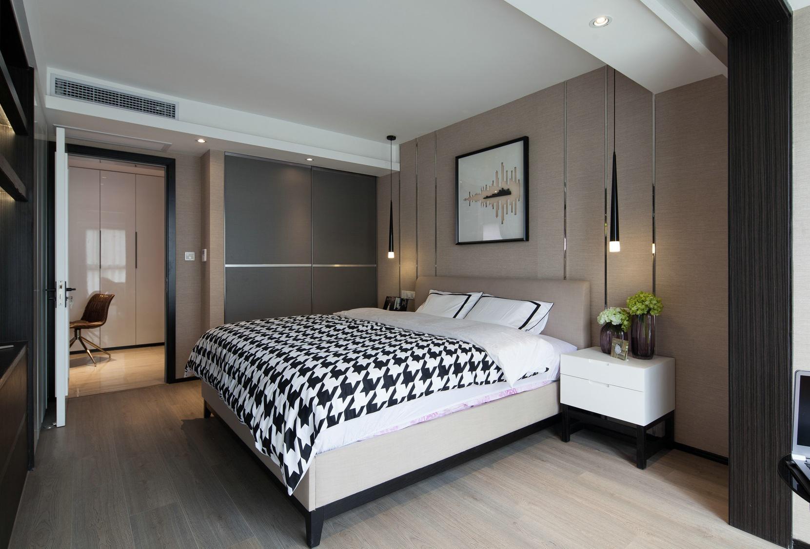 最新现代风格家装卧室装修效果图