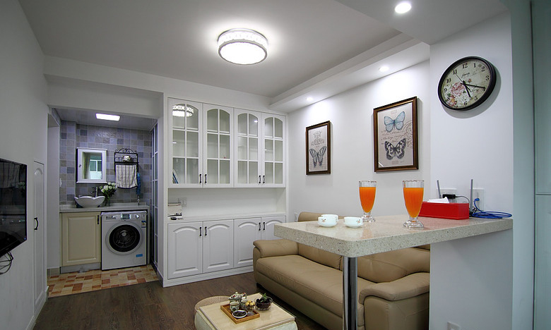 现代简约小户型一居室装修设计图