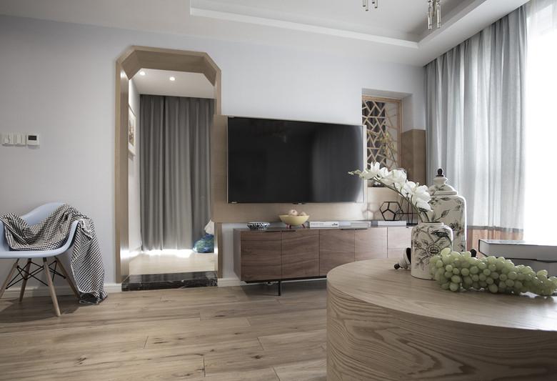 古朴日式风格家居室内实木地板装饰效果图