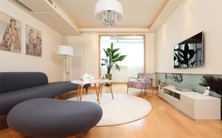 清新简约日式风格三室两厅室内装修美图