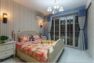 80平蓝色唯美地中海风格复式家装设计装潢图