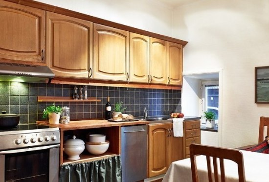 复古田园装修风格厨房橱柜装潢效果图