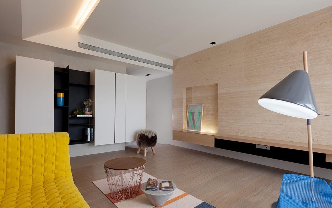 自然简约宜家设计客厅背景墙装修效果图