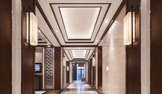 奢华高端新中式别墅走廊吊顶效果图