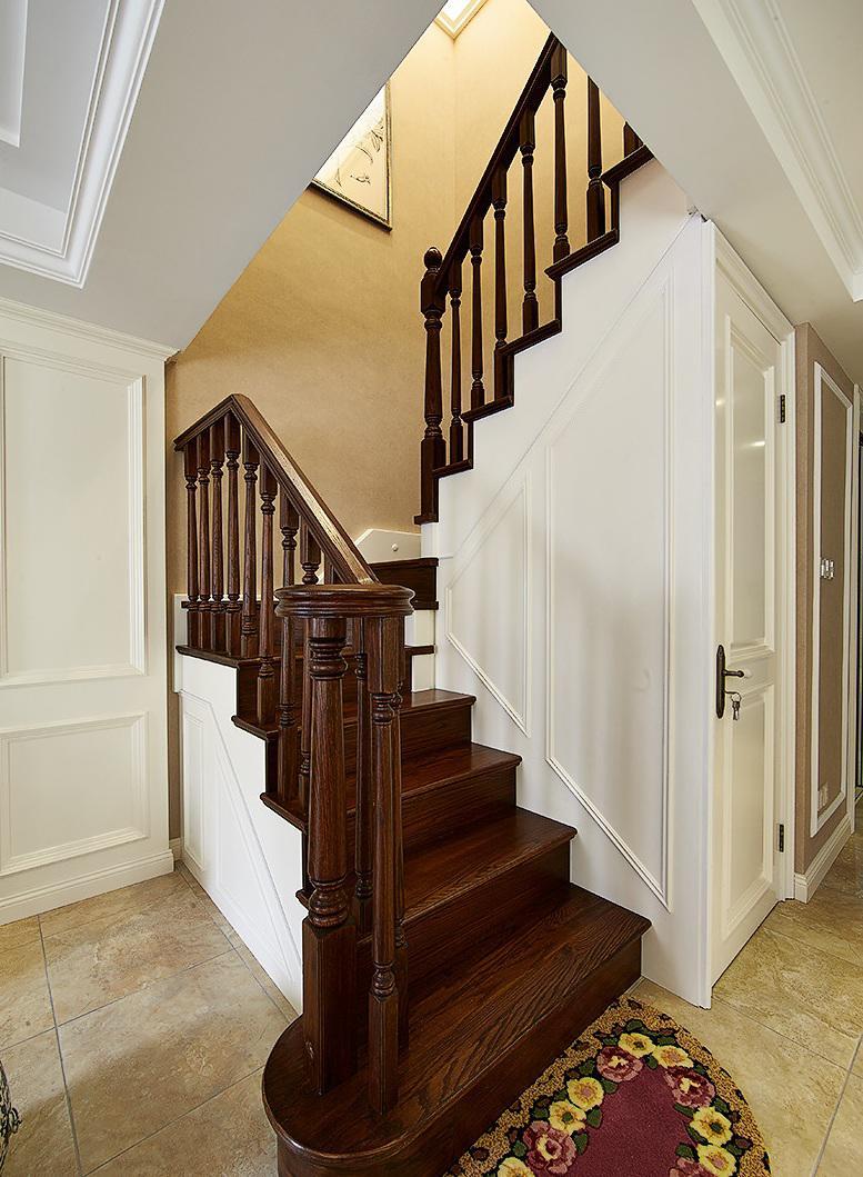 清新简欧风格复式实木楼梯装修设计图_齐家网装修效果