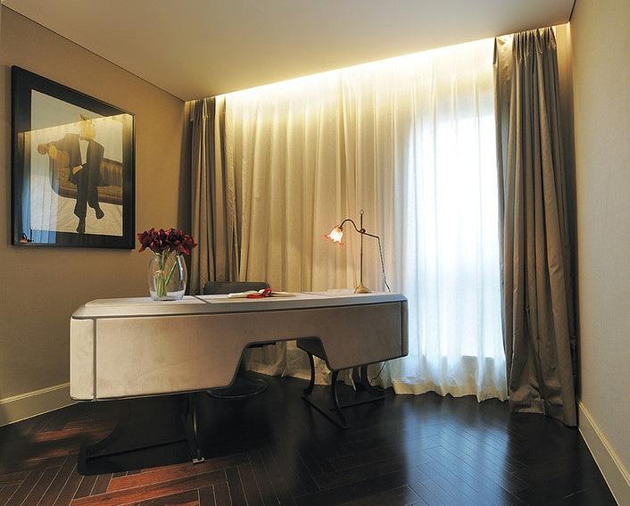 温馨现代家装书房窗帘装饰效果图
