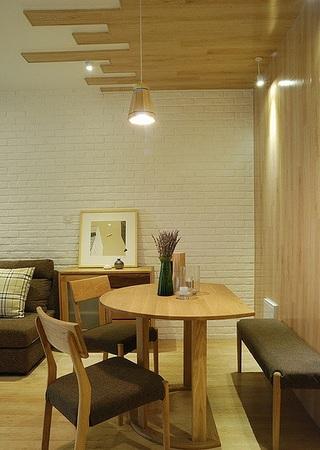 48平清新宜家日式混搭小户型一居装饰效果图