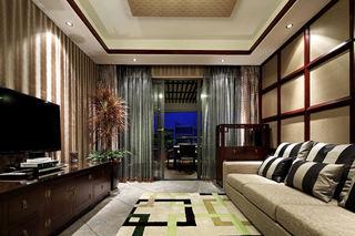 古典中式装修风格复式家装隔断设计图