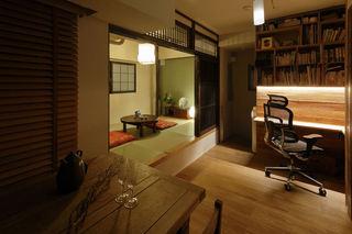 小户型一居室古朴日式风格设计装修图