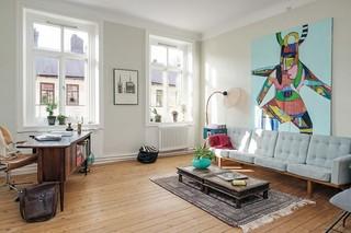 58平个性复古文艺北欧风格小户型公寓装饰案例