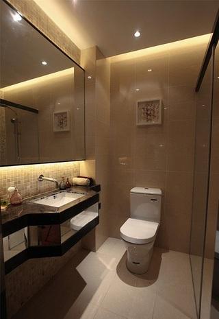 时尚优雅现代风浅咖卫生间设计