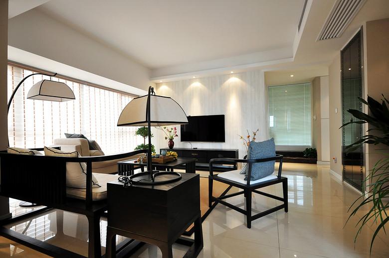 典雅大方新中式风格家居室内装修设计图片