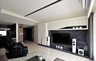 咖啡色素雅简约设计风格二室二厅装潢图片