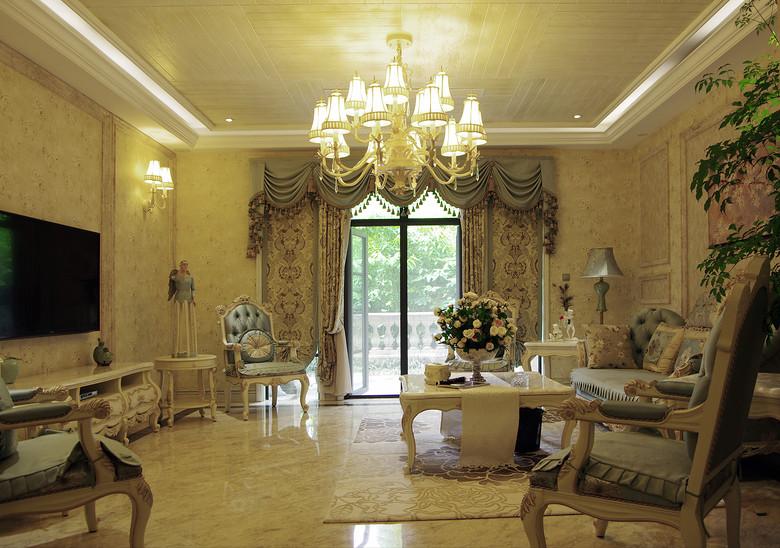 时尚精美欧式别墅客厅家居效果图