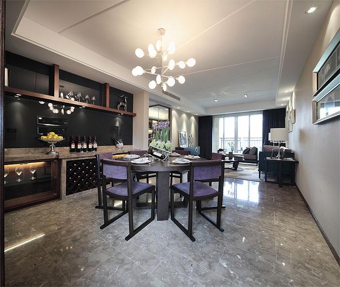 风韵优雅现代时尚餐厅酒柜设计